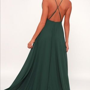 Lulus small green maxi